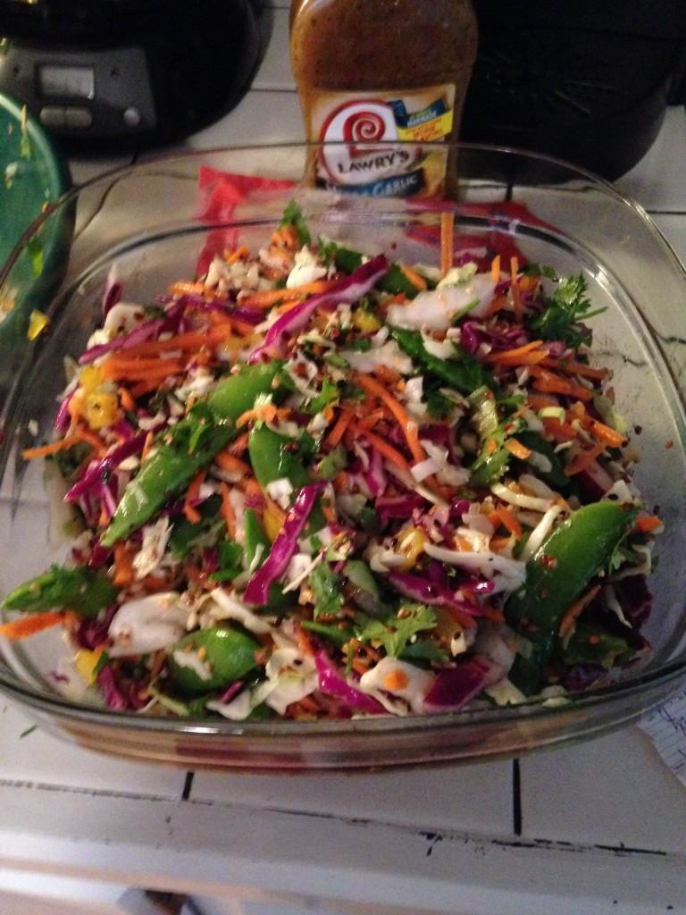 summer salads - healthy cole slaw